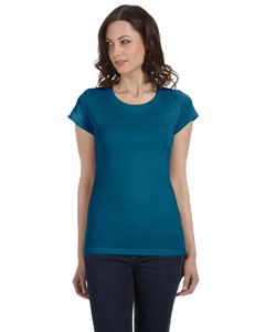 Deep Teal Women's Sheer Jersey Short-Sleeve T-Shirt