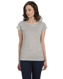 Athletic Heather Women's Sheer Jersey Short-Sleeve T-Shirt