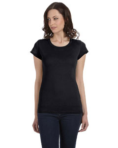 Black Women's Sheer Jersey Short-Sleeve T-Shirt