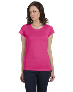 Raspberry Women's Sheer Jersey Short-Sleeve T-Shirt
