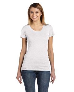 White Fleck Tribld Women's Triblend Short-Sleeve T-Shirt
