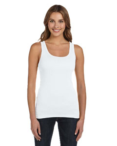 White Women's Sheer Mini Rib Tank