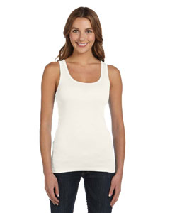 Cream Women's Sheer Mini Rib Tank