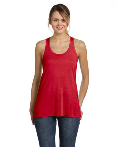 Red Women's Flowy Racerback Tank