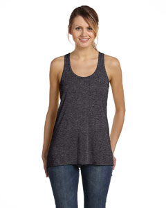 Drk Grey Heather Women's Flowy Racerback Tank
