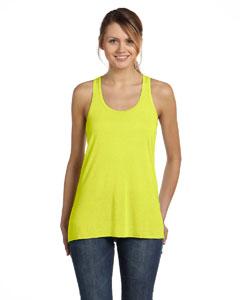 Neon Yellow Women's Flowy Racerback Tank