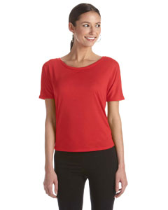 Red Women's Flowy Open Back T-Shirt