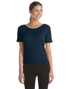 Midnight Women's Flowy Open Back T-Shirt