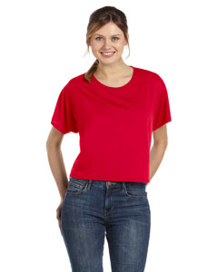 Red Women's Flowy Boxy T-Shirt