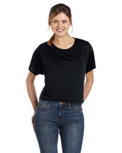 Black Women's Flowy Boxy T-Shirt