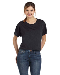 Dark Grey Heather Women's Flowy Boxy T-Shirt