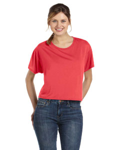 Coral Women's Flowy Boxy T-Shirt