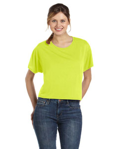 Neon Yellow Women's Flowy Boxy T-Shirt