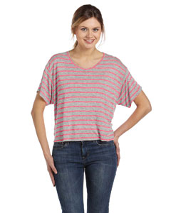 Str Ath Htr/neon Pk Women's Flowy Boxy T-Shirt