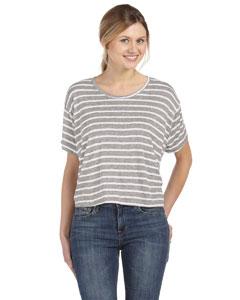 Str Ath Htr/wht Women's Flowy Boxy T-Shirt