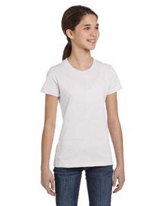 White Girls' Jersey Short-Sleeve T-Shirt