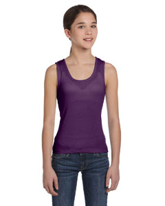 Purple Girls' Baby Rib Tank