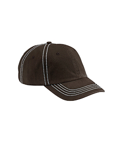 Chocolate/crm Contrast Thick Stitch Unstructured Cap