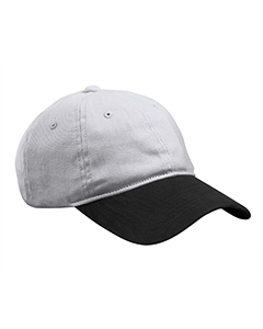 Grey/black Heavy Brushed Twill Unstructured Cap
