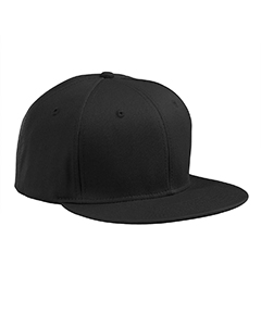 Black Flat Bill Cap