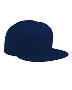 Navy Flat Bill Cap