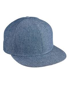 Blue Chambray Flat Bill Cap