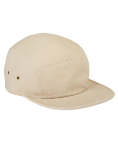 Khaki Square Panel Cap