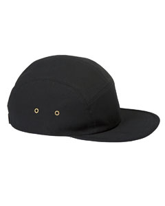 Black Square Panel Cap