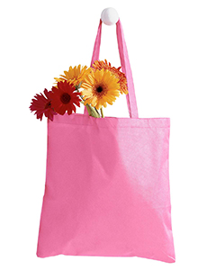 Pink 8 oz. Canvas Tote