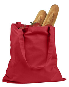 Red 6 oz. Canvas Promo Tote