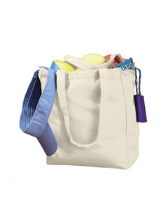 Natural 12 oz. Canvas Book Tote