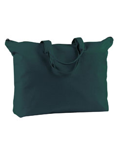 Forest 12 oz. Canvas Zippered Book Tote