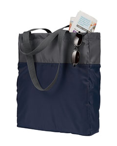 Grey/navy Packable Tote