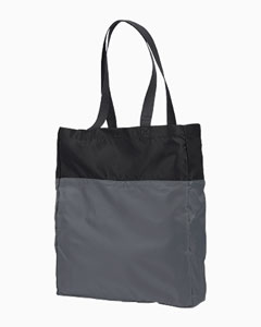 Black/grey Packable Tote