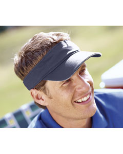 Navy/white Washed Twill Sandwich Visor