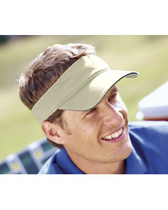 Stone/navy Washed Twill Sandwich Visor