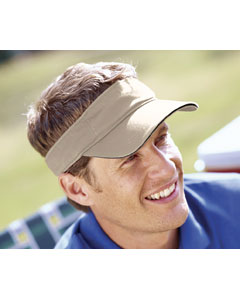 Khaki/black Washed Twill Sandwich Visor