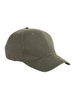 Olive 6-Panel Brushed Twill Structured Cap