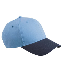 Ice Blue/navy 6-Panel Brushed Twill Structured Cap