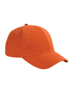 Tangerine 6-Panel Brushed Twill Structured Cap
