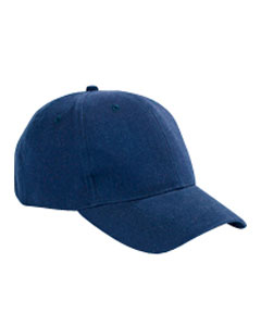 Navy 6-Panel Brushed Twill Structured Cap