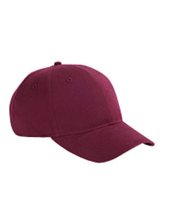 Maroon 6-Panel Brushed Twill Structured Cap