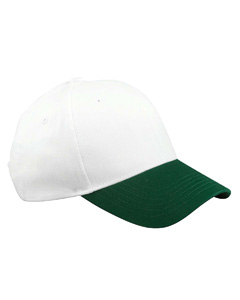White/forest 6-Panel Brushed Twill Structured Cap