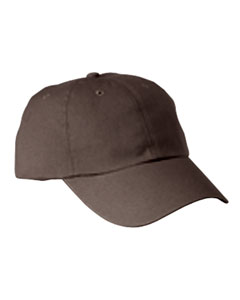 Coffee 6-Panel Washed Twill Low-Profile Cap