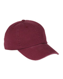 Maroon 6-Panel Washed Twill Low-Profile Cap