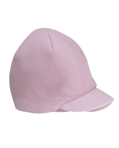 Pink Knit Cap with Bill