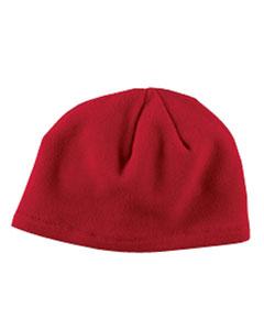 Red Knit Fleece Beanie