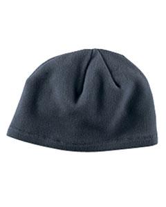 Grey Knit Fleece Beanie