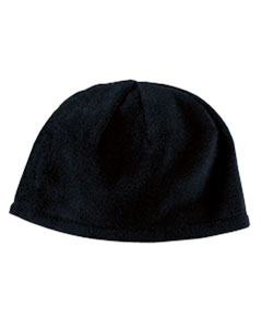 Black Knit Fleece Beanie