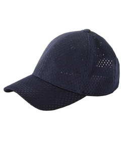 Navy 6-Panel Structured Mesh Baseball Cap